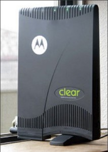 clearモデムの写真