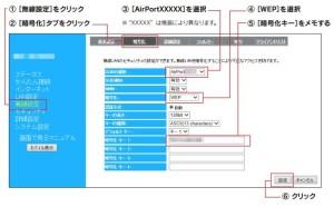 WN-AC583RKの暗号化モードの変更