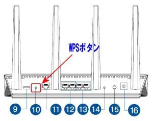RT-AC87UのWPSボタンの位置