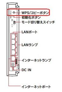 WN-AC1167GRのWPSボタン