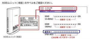 E-WMTA2.3のSSIDとパスワード