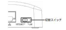 PWR-Q200クレードル切り替えスイッチ