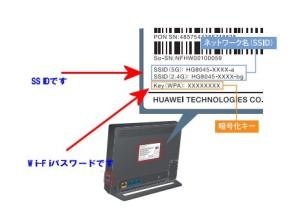 HG8045DのSSIDとWi-Fiパスワード