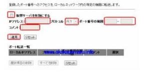 2013年以降販売のプラネックスのポートフォワードページ